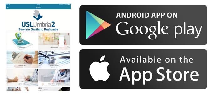 On line la nuova App dell'Usl Umbria 2. A portata di smartphone tutti i servizi dell'azienda