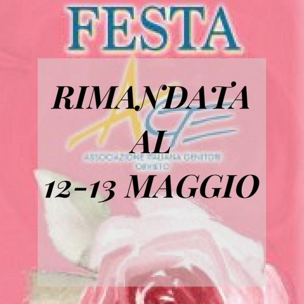 Causa maltempo rimandata al 12 e 13 maggio la Festa A.Ge. per il Paese delle Rose