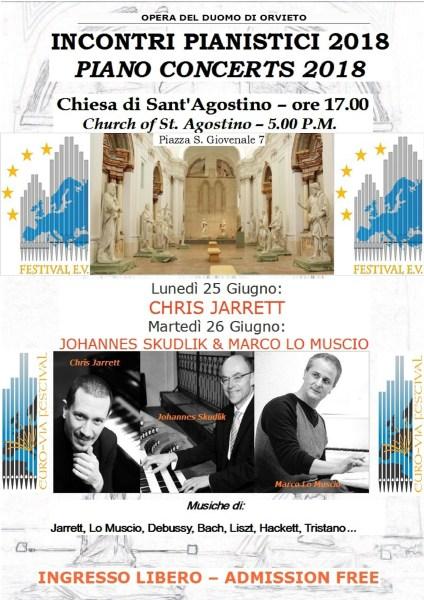 """""""Incontri pianistici 2018"""" nella chiesa di Sant'Agostino"""