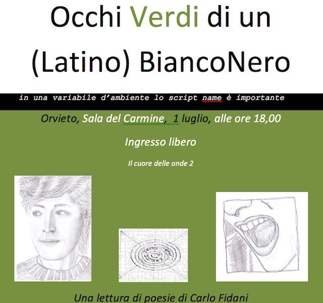 Occhi verdi di un (Latino) BiancoNero, al Carmine una lettura di poesie di Carlo Fìdani