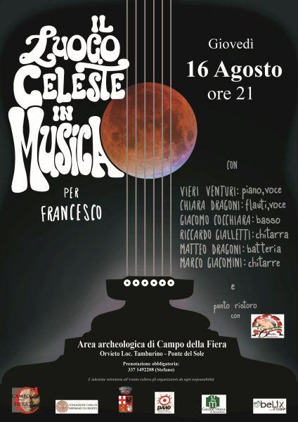 """""""Il luogo celeste in musica"""", serata in memoria di Francesco Satolli allo scavo di Campo della Fiera"""