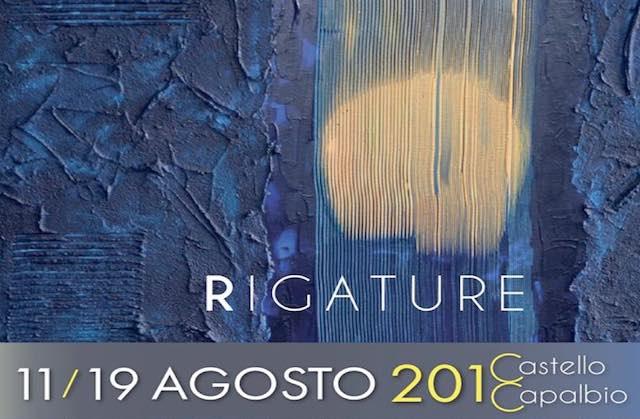 """Taglio del nastro per la mostra pittorica """"Rigature"""" di Adelmo Perugini"""