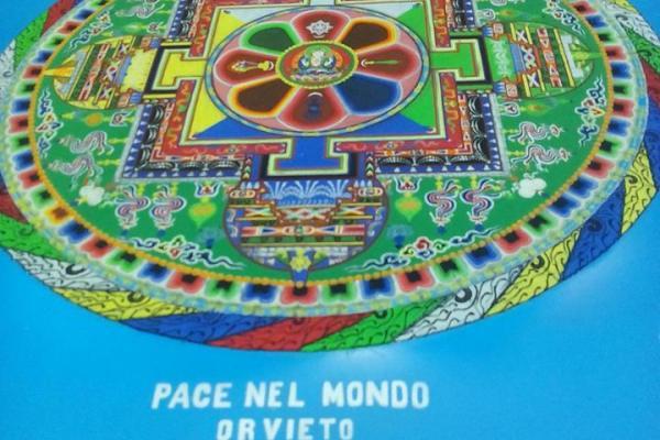 Affinchè continui a diffondere energia positiva e amore, consacrazione del Mandala donato a Orvieto