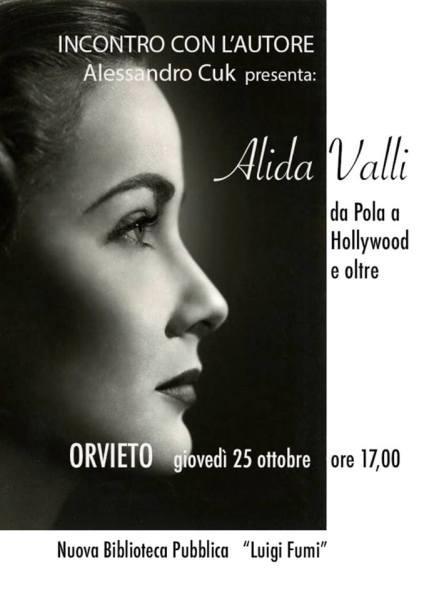 """La Biblioteca di Orvieto presenta il libro """"Alida Valli da Pola a Hollywood e oltre"""" di Alessandro Cuk"""