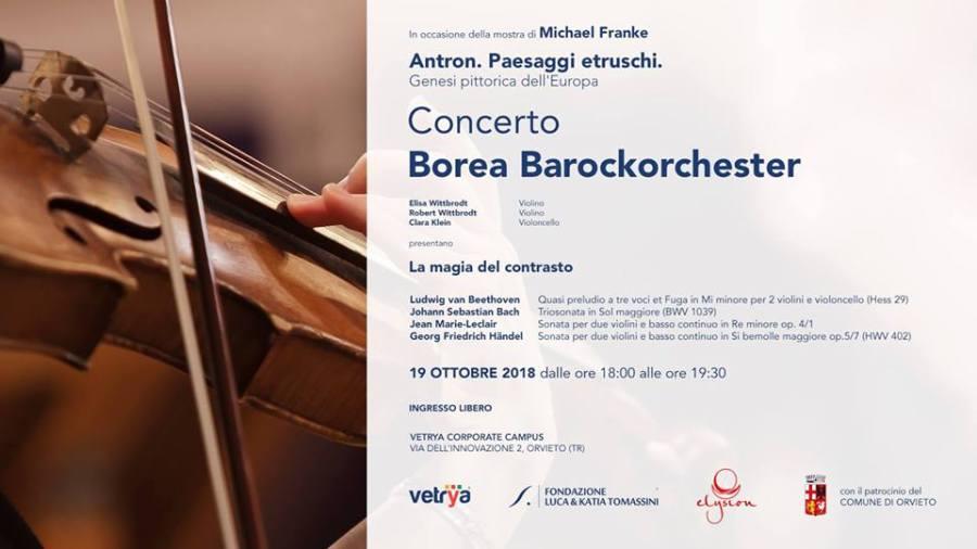 """La magia del contrasto"", al Campus di Vetrya concerto della Borea Barock Orchester"