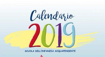 Calendario 2019 a cura della Scuola dell'Infanzia di Acquapendente, raccoglie le storie più care ai bambini