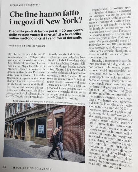 Nel centro di New York il 20% dei negozi sono chiusi. Come a Orvieto?
