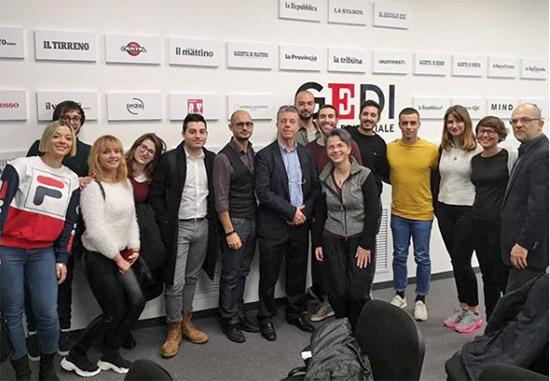 A lezione digitale presso il Gruppo Editoriale GEDI