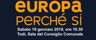 """""""Europa perchè Si"""", incontro pubblico a Todi"""