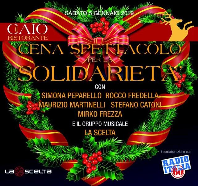 """Cena-spettacolo della solidarietà a """"Il Caio"""""""