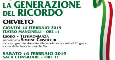 """Celebrazioni a Orvieto per il """"Giorno del Ricordo"""""""