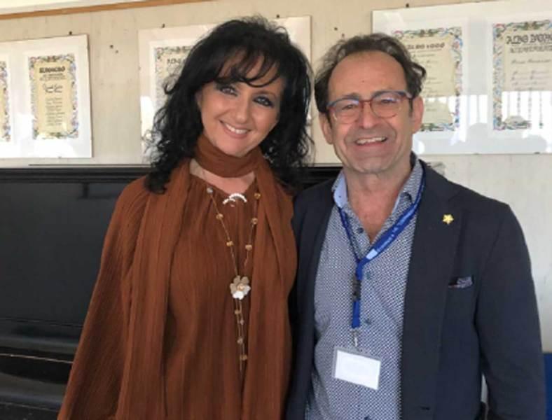 Il campione olimpionico Massullo in visita all'Istituto omnicomprensivo Leonardo da Vinci