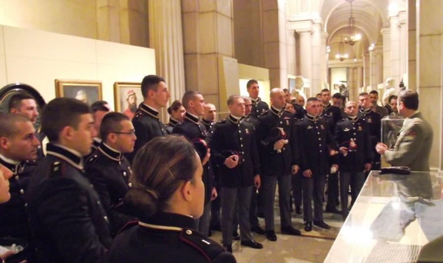 Allievi marescialli del XXI Corso Esempio in visita al Vittoriano a Roma