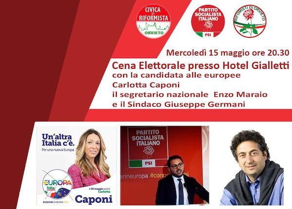 Cena conviviale con Carlotta Caponi ed Enzo Maraio