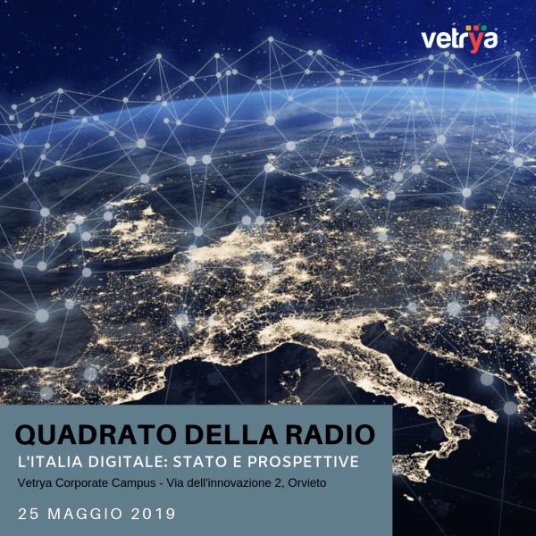 Il Quadrato della Radio ospite al corporate campus di Vetrya. Il meglio dell'Italia delle telecomunicazioni e del digitale si incontra ad Orvieto