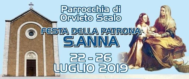 Il programma della festa di Sant'Anna a Orvieto scalo