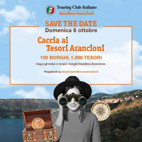"""Anche Vitorchiano partecipa a """"Caccia ai Tesori Arancioni"""", con il marchio Touring Club"""