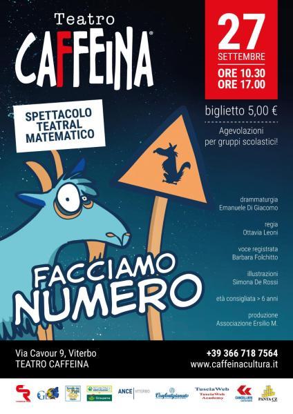 Facciamo numero è lo spettacolo teatral matematico di Schegge di Cotone a Teatro Caffeina