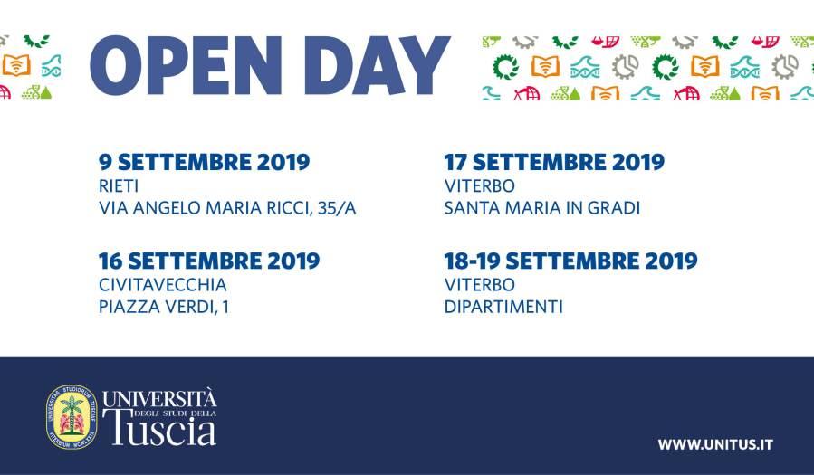 Open Day Unitus, con riferimento al nuovo corso di Scienze Biologiche Ambientali