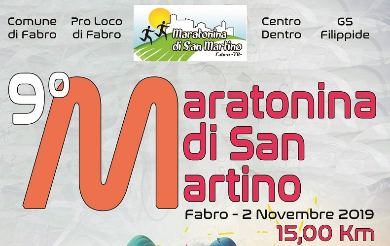 Tutto pronto per la 9^ Maratonina di Fabro, preiscrizioni fino al 1° novembre