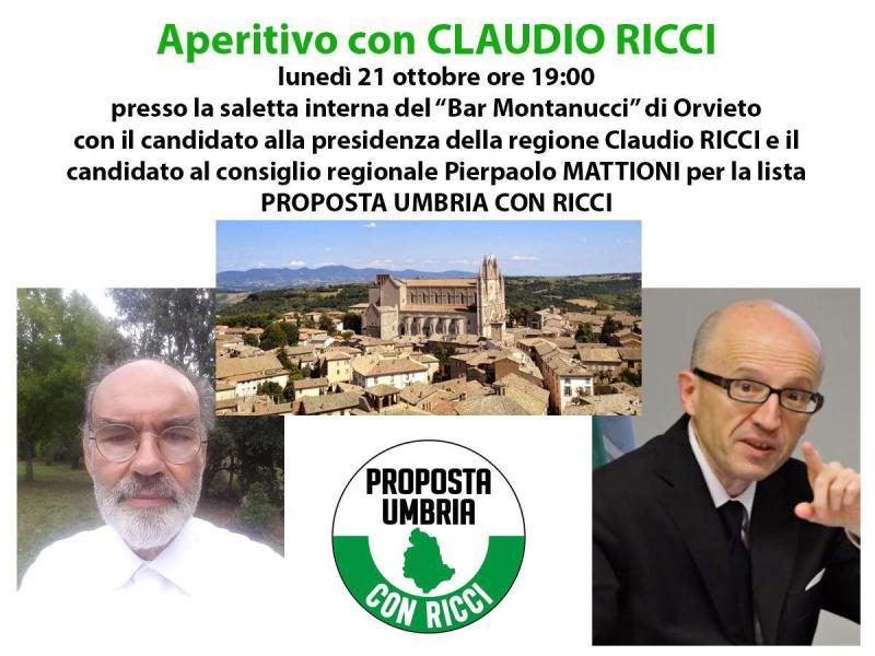 Verso le Regionali, aperitivo con Claudio Ricci
