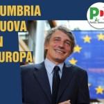 L'Umbria nuova in Europa, incontro con David Sassoli