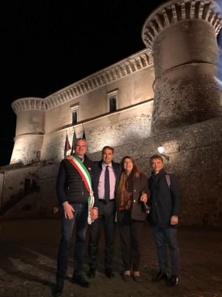 Inaugurata nuova illuminazione artistica al Castello di Alviano