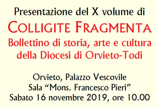 Colligite Fragmenta, si presenta il X volume