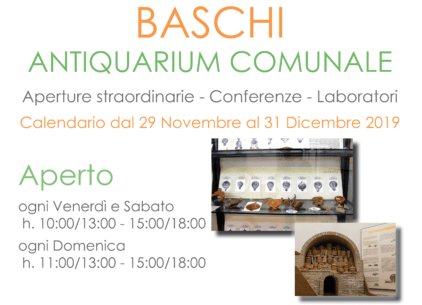 Apertura straordinaria dell'Antiquarium di Baschi