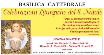 Celebrazioni liturgiche del Santo Natale in Cattedrale