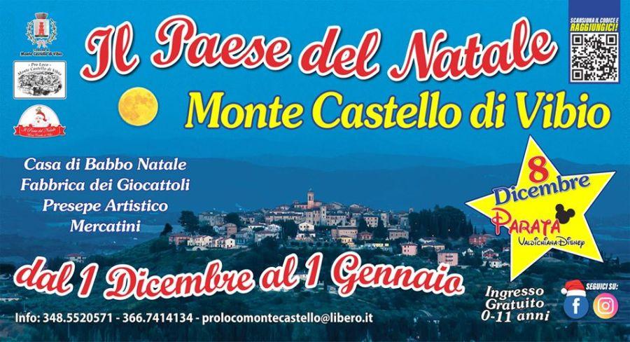 Monte Castello di Vibio, borgo del Natale: ecco tutte le iniziative