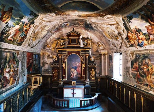 Restauro del coro ligneo e della cantoria dell'Oratorio