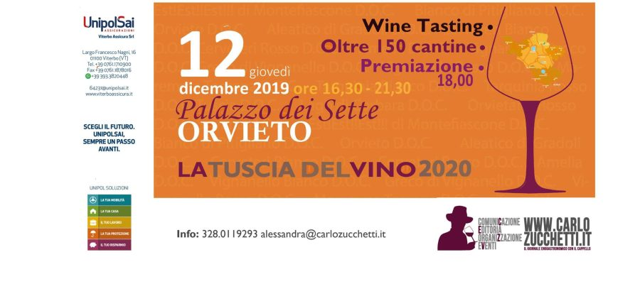 """""""La Tuscia del Vino 2020"""". Si presenta a Orvieto la guida dei vini della Tuscia"""