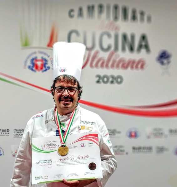 Bronzo per lo chef Angelo d'Acquisto ai Campionati di Cucina Italiana 2020