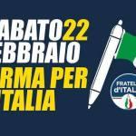 Raccolta firme, Fratelli d'Italia scende in piazza