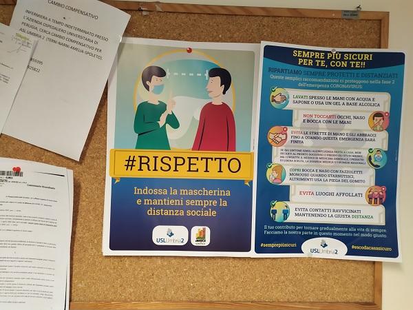 Alcune regole da rispettare nella Fase2, campagna di comunicazione dell'Usl Umbria 2
