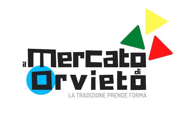 """Per i mercati ambulanti uno slogan """"La tradizione prende forma"""" e un logo """"Il mercato di Orvieto"""""""