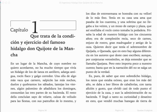 El Quijote en formato ePUB