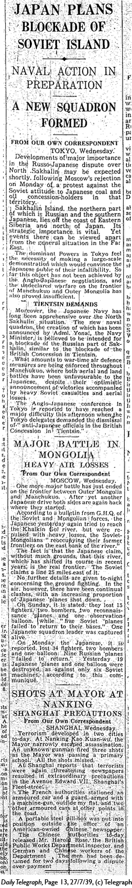 Daily Telegraph 27-7-39 Page 13