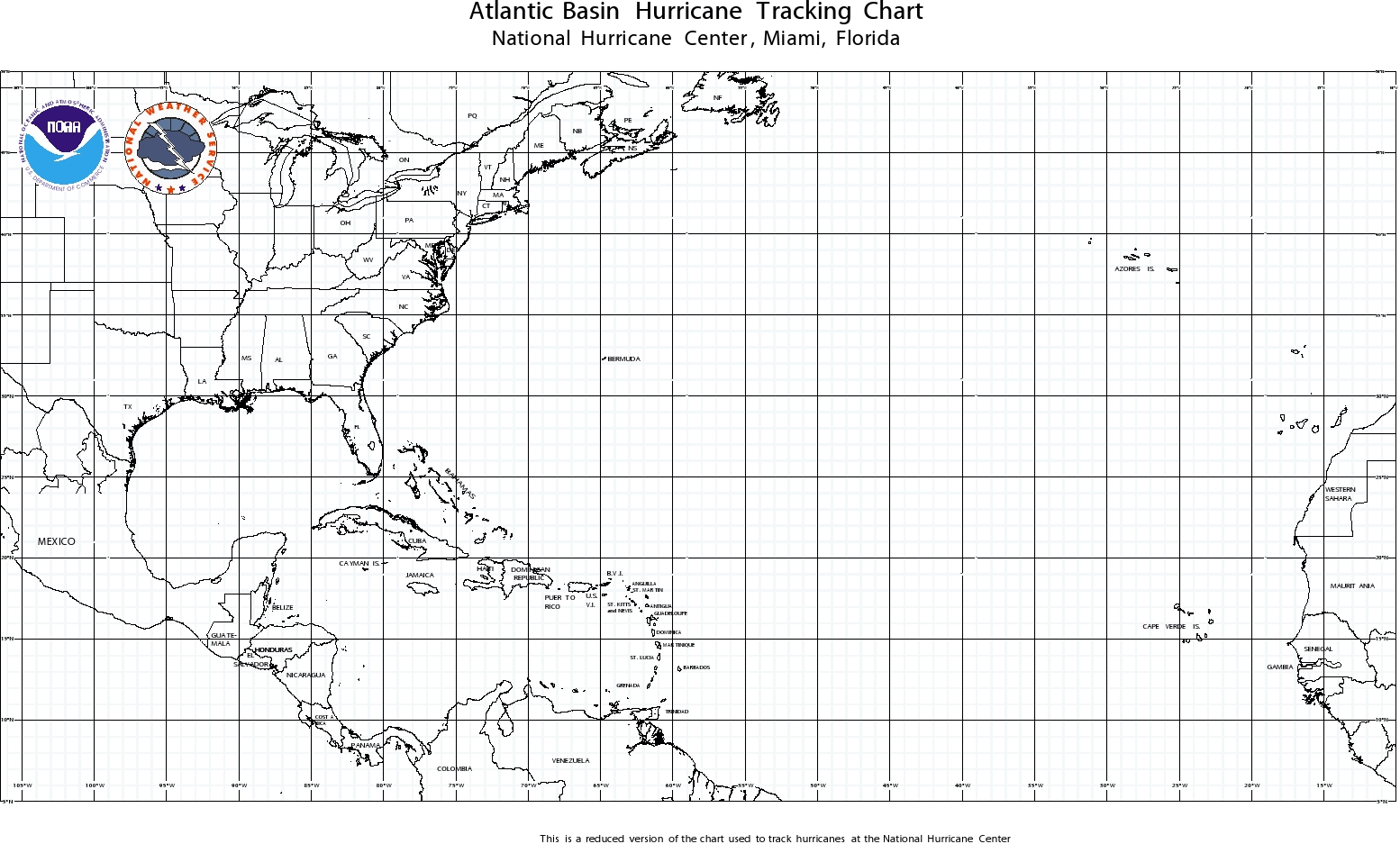 Printable Hurricane Tracking Chart And Gulf Activity