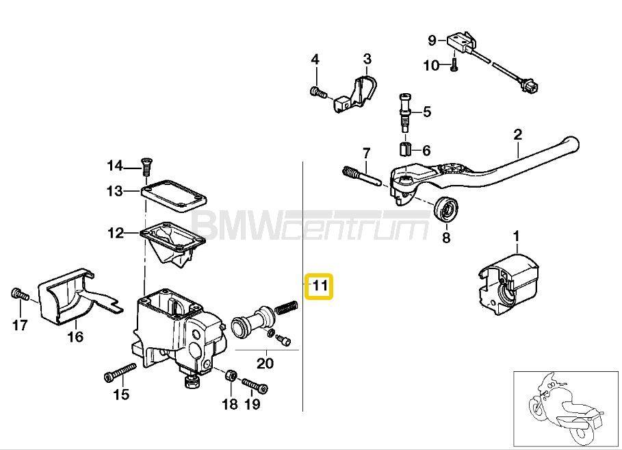 Pompa hamulcowa przód D=20mm BMW K1 K100RS K1100LT K1100RS