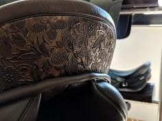 Detail flower print bronze