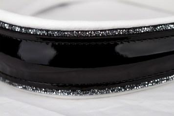 Lackleder schwarz +fineline crystal