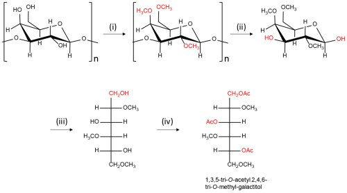 small resolution of scheme of the preparation of partially methylated alditol acetates pmaas from polysaccharides having galactose residue i dmso naoh dmso suspension