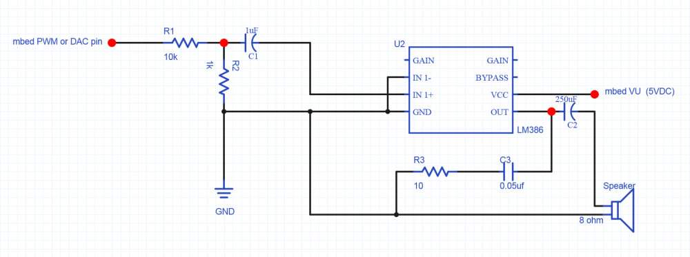 medium resolution of lm386 audio amplifier circuit for small 8ohm 5w speaker a smaller value for r1 can be used to increase the volume