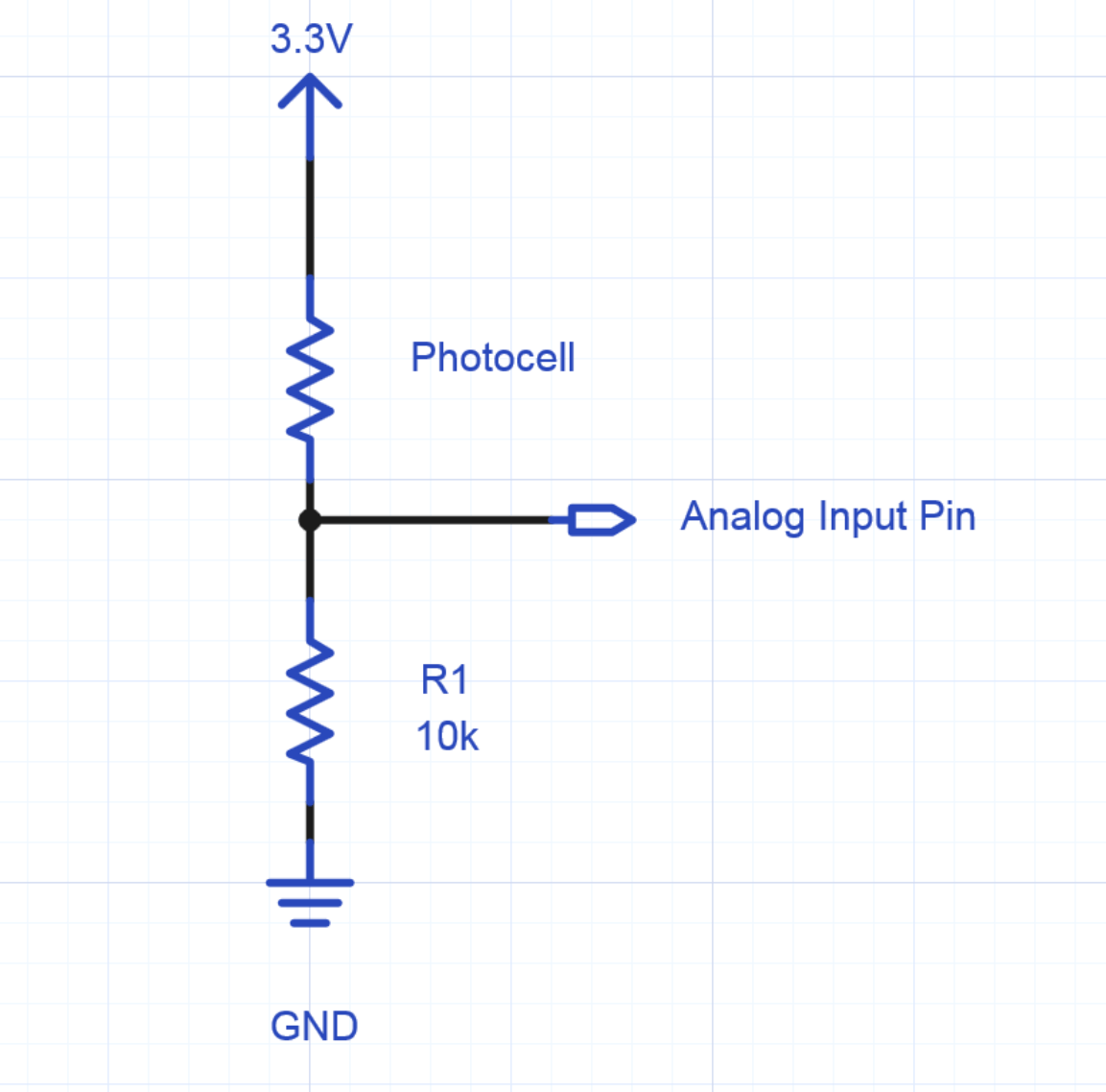hight resolution of schematic of photocell hookup to an analog input