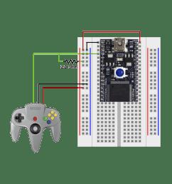 n64 controller interface mbed nintendo 64 controller wiring diagram [ 1000 x 1000 Pixel ]