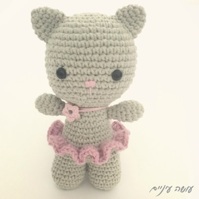 עושה עיניים - אמיגורומי בובה סרוגה    Osa Einaim - amigurumi crochet cat doll