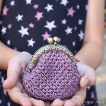 עושה עיניים - ארנק סרוג מחוטי כותנה    Osa Einaim - Crochet purse