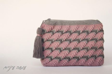 עושה עיניים - פספסים - ארנקים בטקסטורות - אלכסונים    Osa Einaim - Passpasim - Crochet textured purses pattern